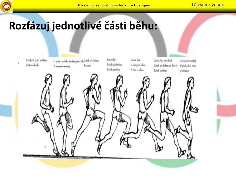Rozfázuj jednotlivé části běhu: Elektronické učební materiály – II. stupeň Tělesná výchova