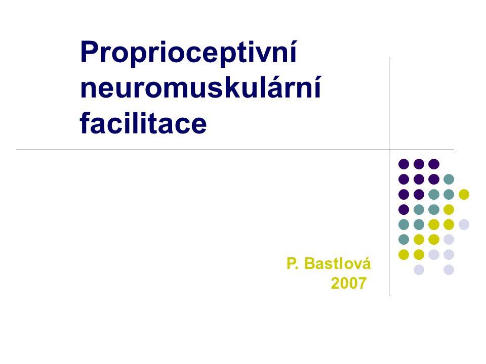 Proprioceptivní neuromuskulární facilitace P. Bastlová 2007