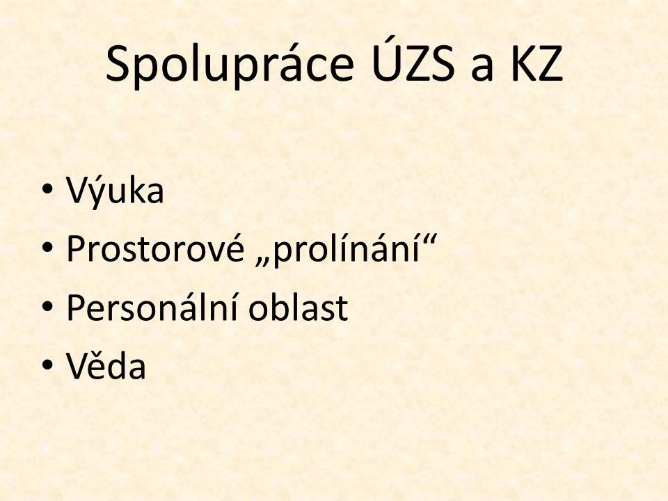 """Spolupráce ÚZS a KZ Výuka Prostorové """"prolínání Personální oblast Věda"""