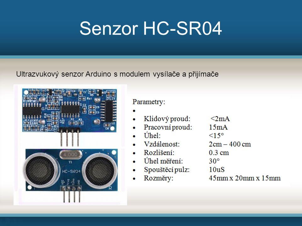 Senzor HC-SR04 Ultrazvukový senzor Arduino s modulem vysílače a přijímače