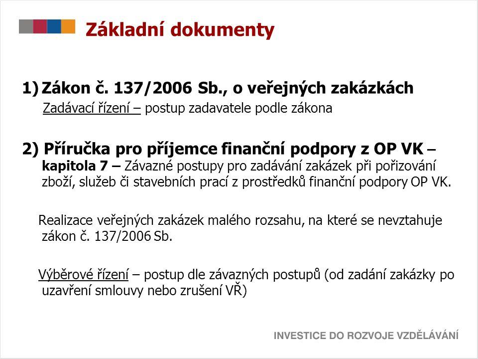 Základní dokumenty 1)Zákon č.