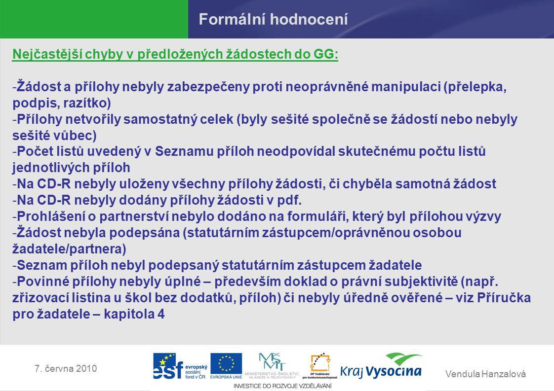 Vendula Hanzalová 7.