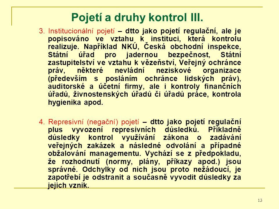 13 Pojetí a druhy kontrol I II. 3.