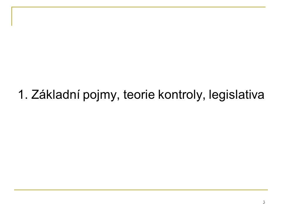3 1. Základní pojmy, teorie kontroly, legislativa