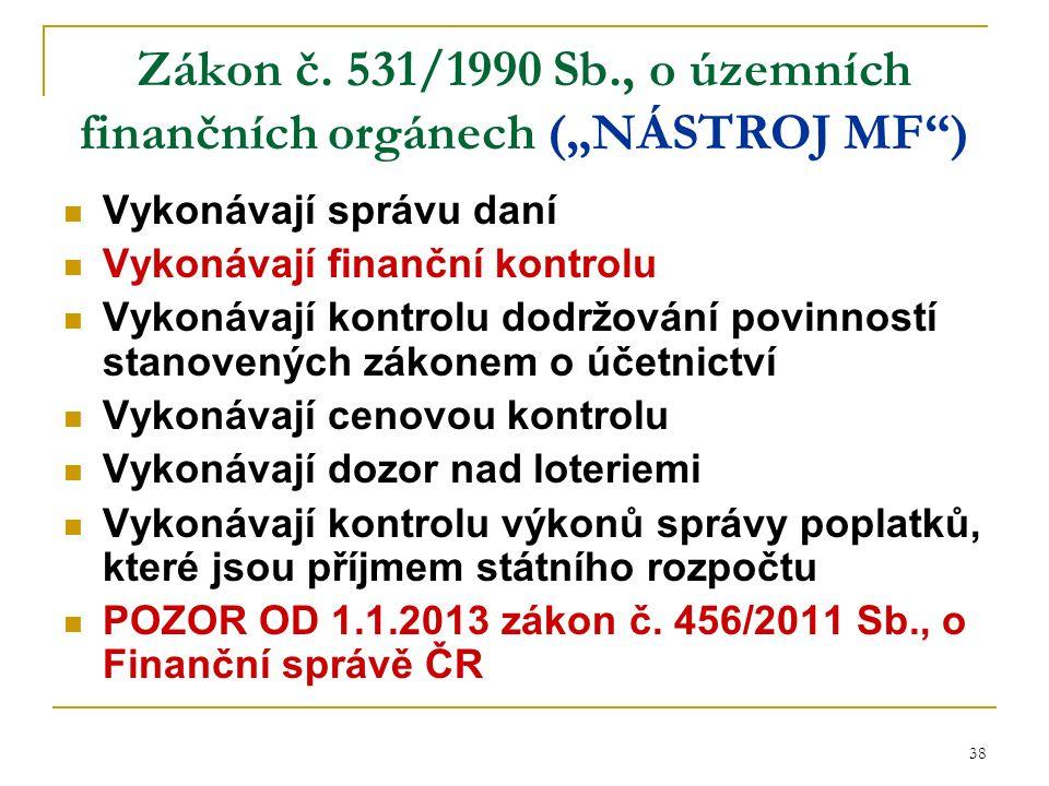 38 Zákon č.