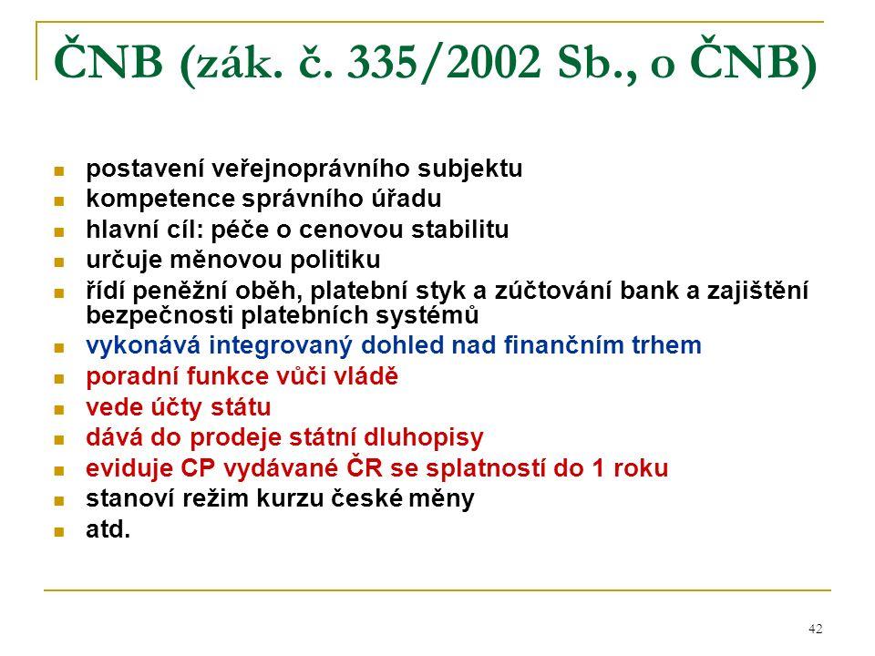 42 ČNB (zák. č.