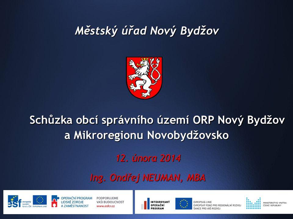 Městský úřad Nový Bydžov 12. února 2014 Ing.