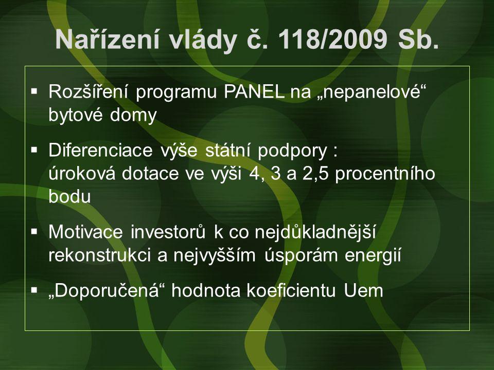 Nařízení vlády č. 118/2009 Sb.