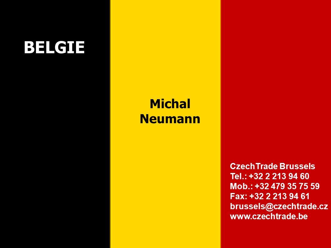 12 CzechTrade Brussels Tel.: +32 2 213 94 60 Mob.: +32 479 35 75 59 Fax: +32 2 213 94 61 brussels@czechtrade.cz www.czechtrade.be BELGIE Michal Neumann