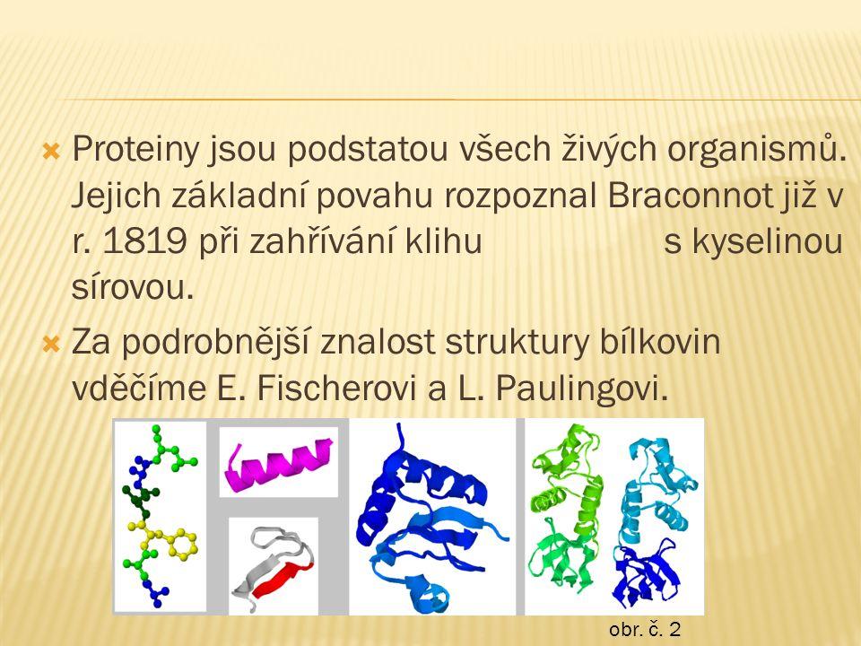  Proteiny jsou podstatou všech živých organismů.