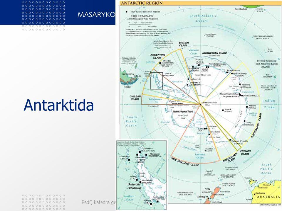 PedF, katedra geografie102 Antarktida
