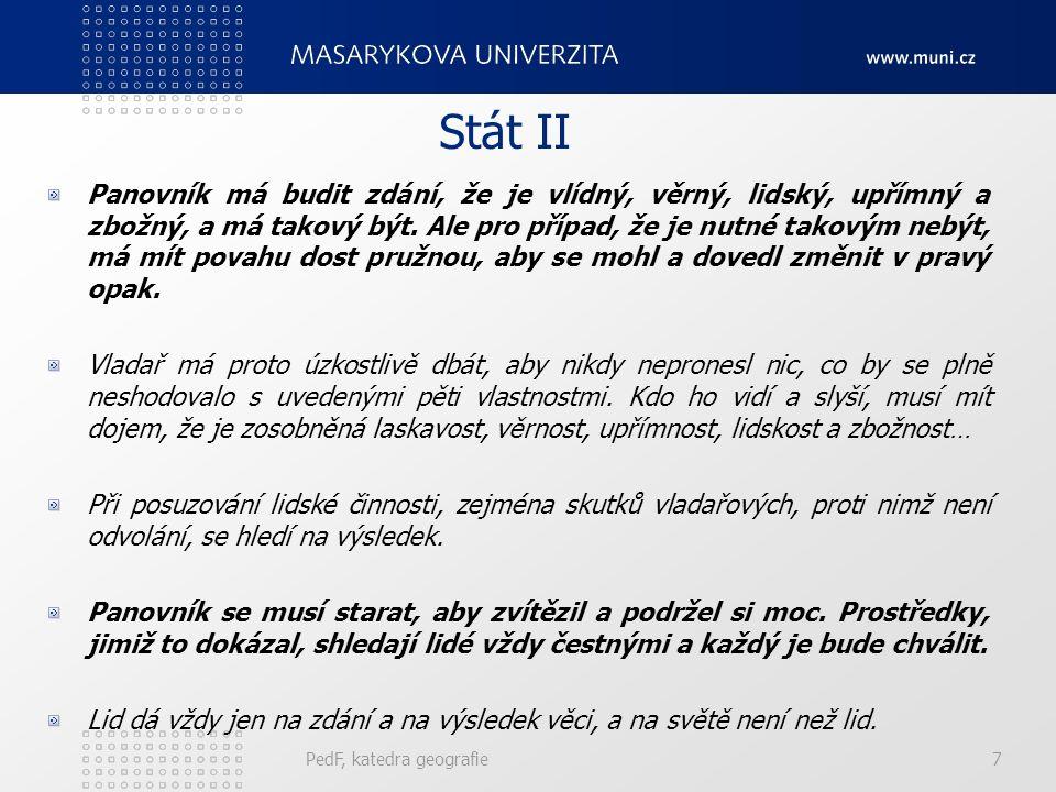 PedF, katedra geografie128 Omezený plurarismus Politická soutěž tří až pěti stran.