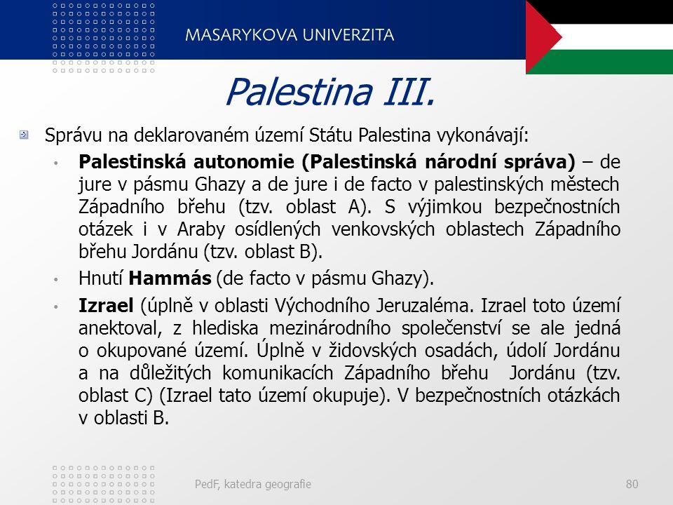 PedF, katedra geografie80 Palestina III.