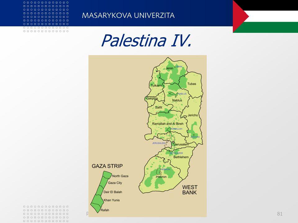 PedF, katedra geografie81 Palestina IV.