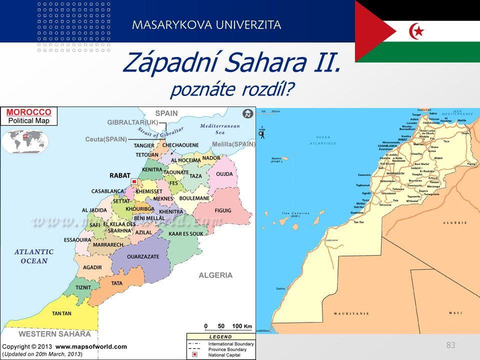 PedF, katedra geografie83 Západní Sahara II. poznáte rozdíl?