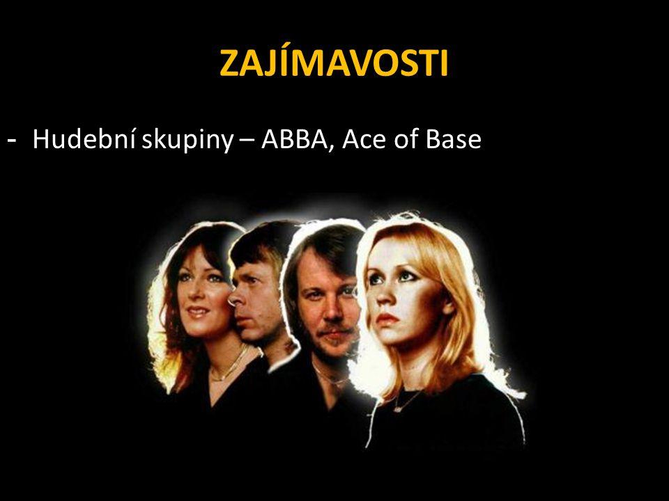 ZAJÍMAVOSTI - Hudební skupiny – ABBA, Ace of Base