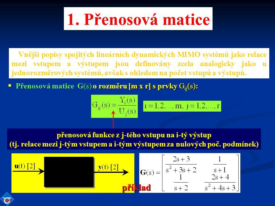 Vnější popisy spojitých lineárních dynamických MIMO systémů jako relace mezi vstupem a výstupem jsou definovány zcela analogicky jako u jednorozměrových systémů, avšak s ohledem na počet vstupů a výstupů.