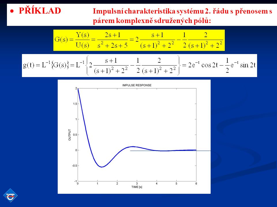 Frekvenční charakteristika v logaritmických souřadnicích Vyjdeme frekvenčního přenosu amplituda (modul) fáze (argument) Bodeho frekvenční charakteristika je grafickým zobrazením frekvenčního přenosu G(j  ) v logaritmických souřadnicích.