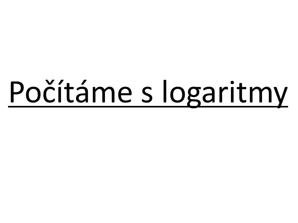 Počítáme s logaritmy