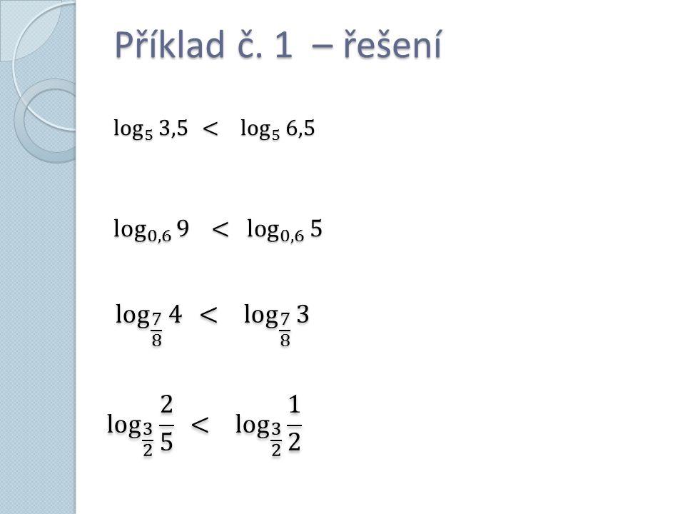Příklad č. 1 – řešení