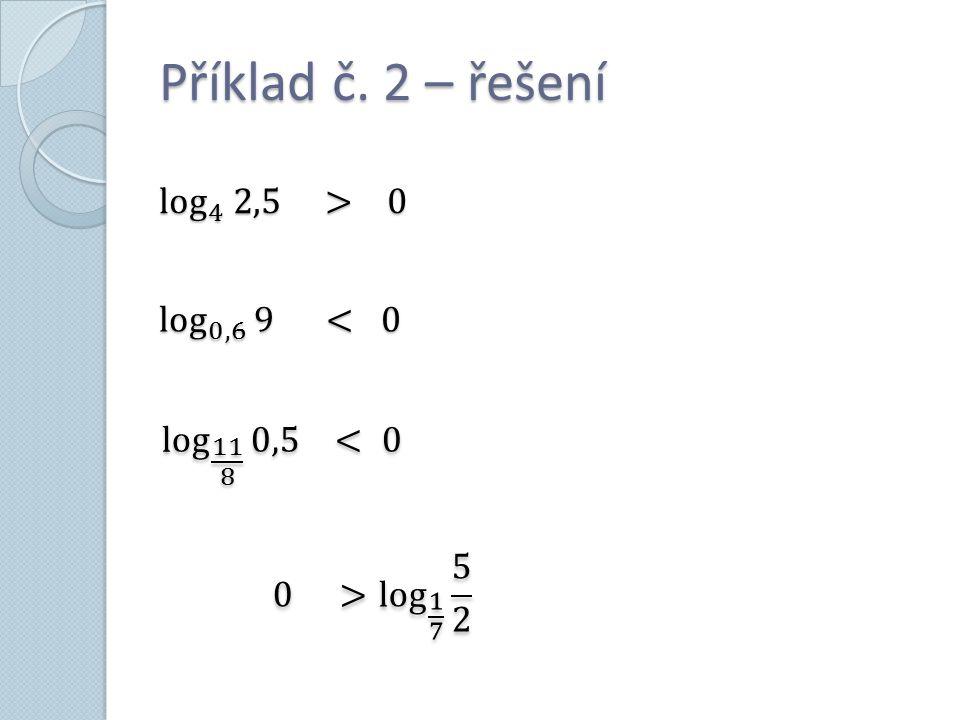 Příklad č. 2 – řešení