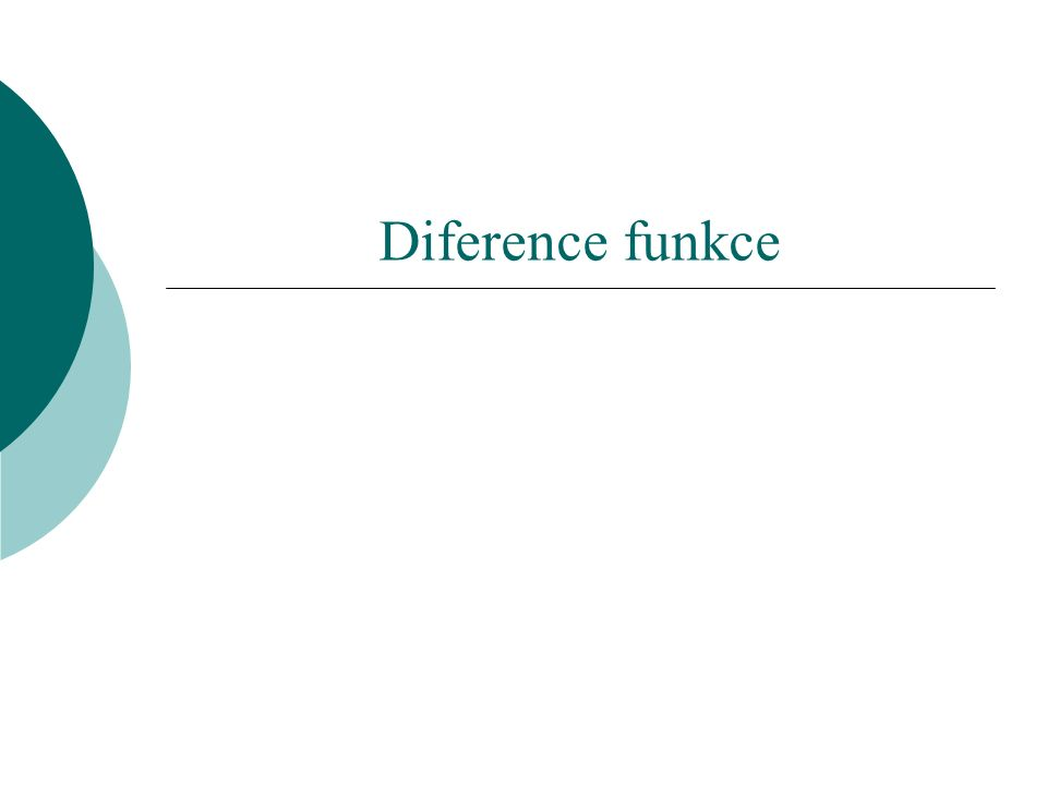 Diference funkce