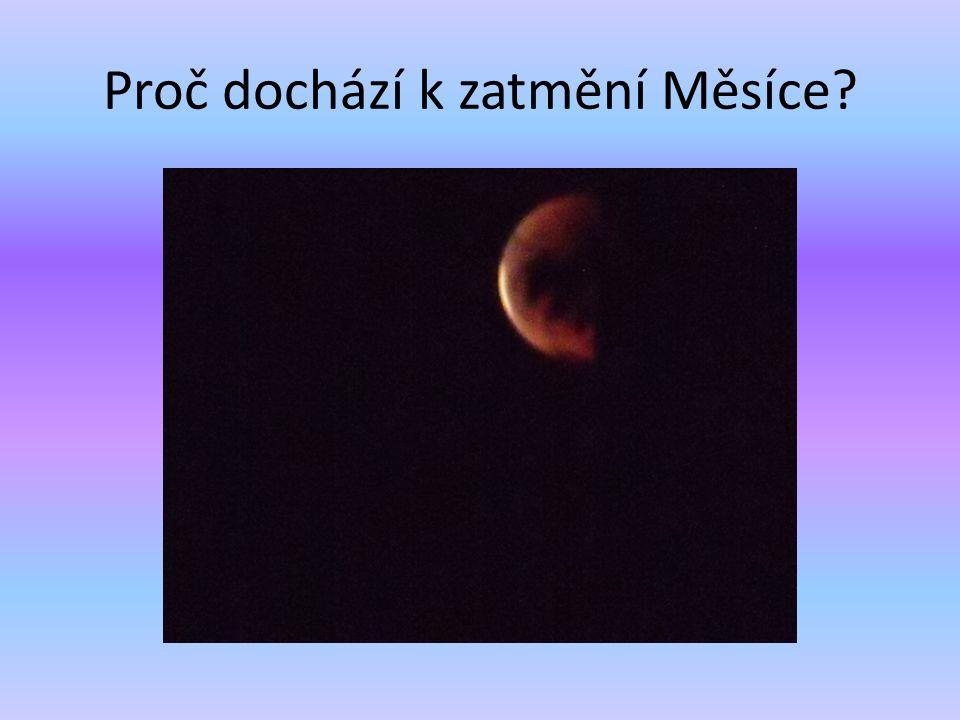Proč dochází k zatmění Měsíce
