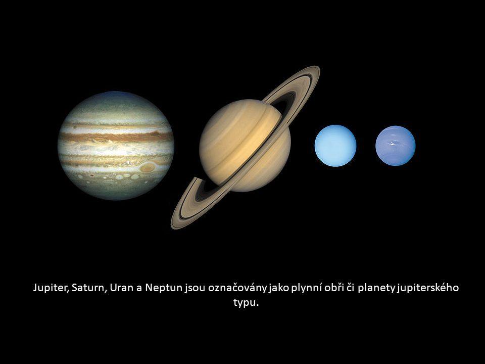 Jupiter, Saturn, Uran a Neptun jsou označovány jako plynní obři či planety jupiterského typu.