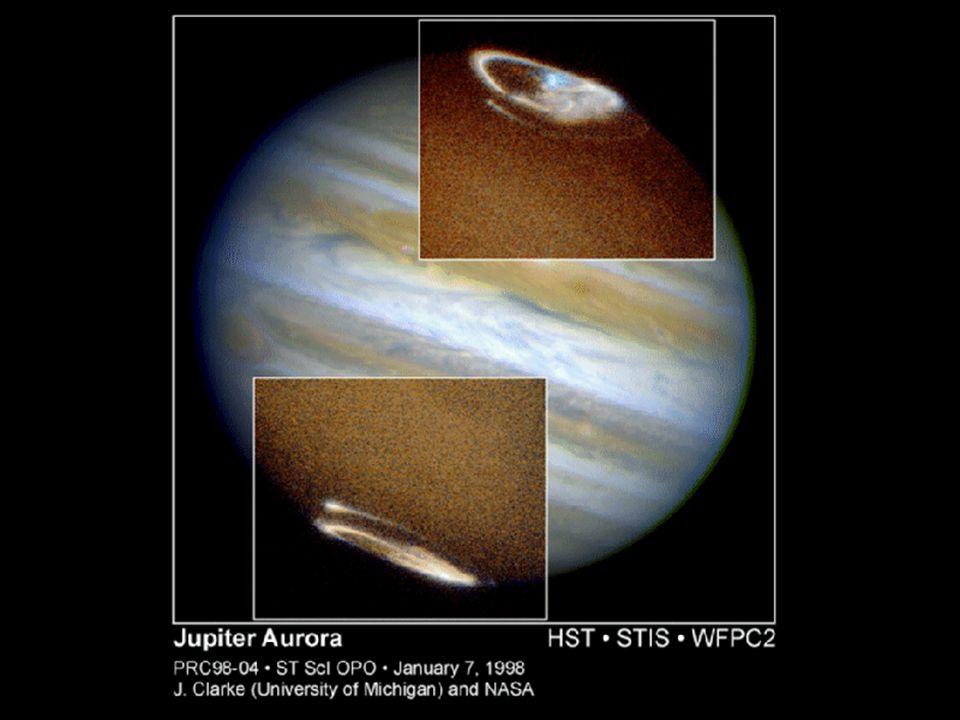 Jupiter – polární záře