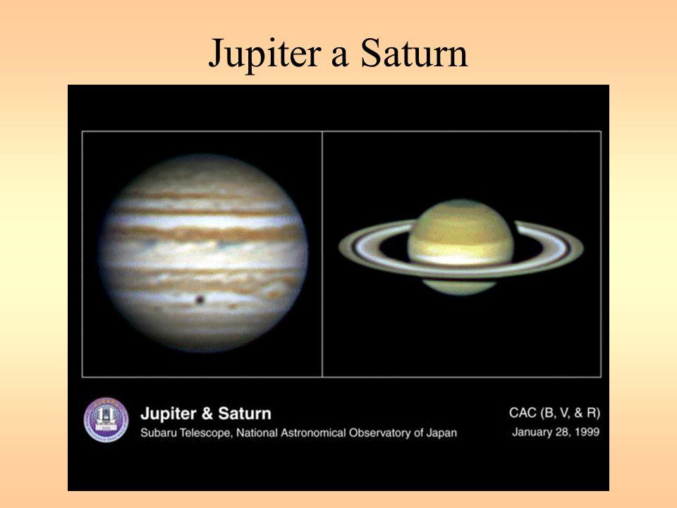 Jupiter – pozorování ze Země Vzdálenost v opozici 590 až 690 mil.