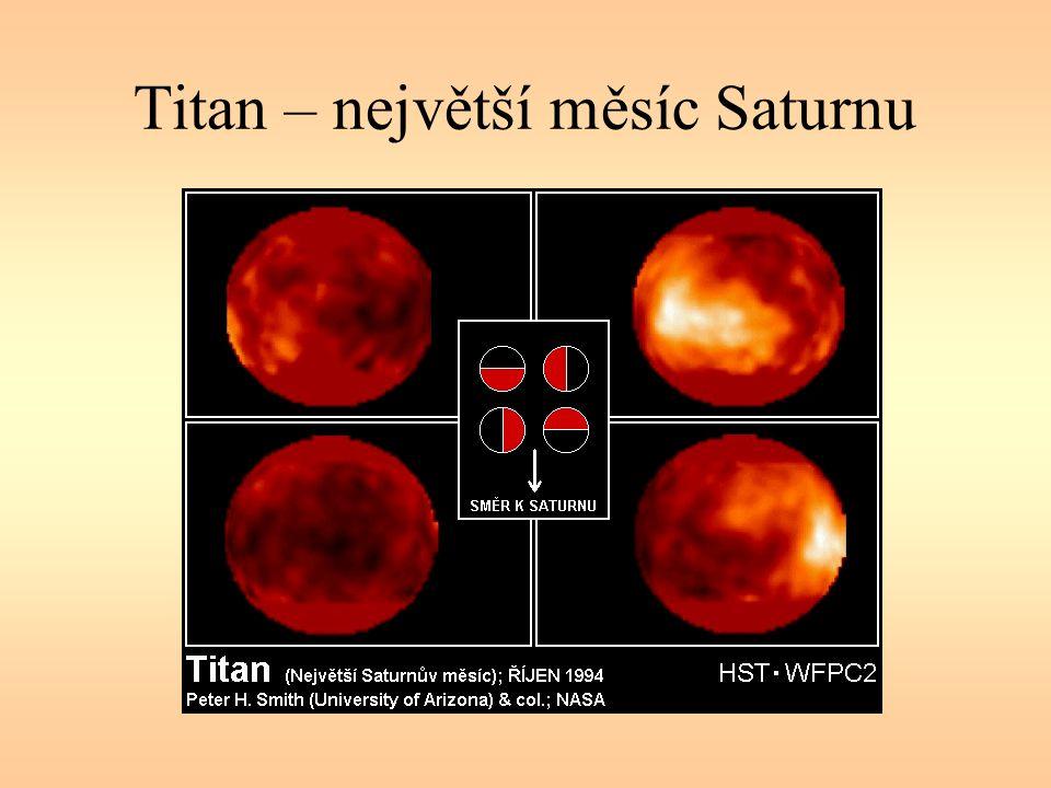 Titan – největší měsíc Saturnu