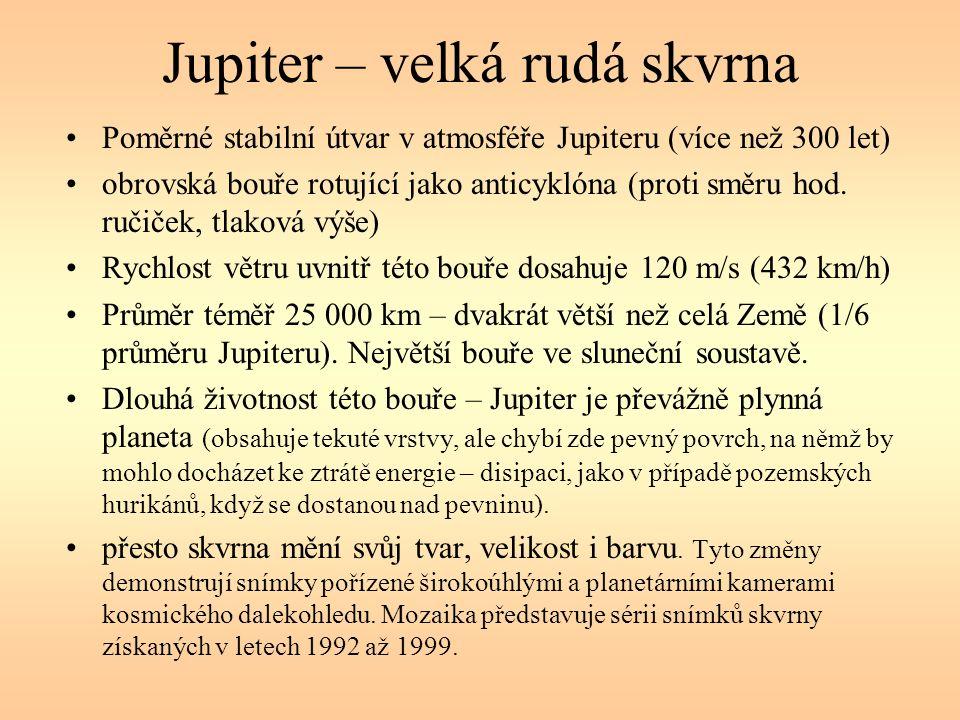 Jupiter – velká rudá skvrna