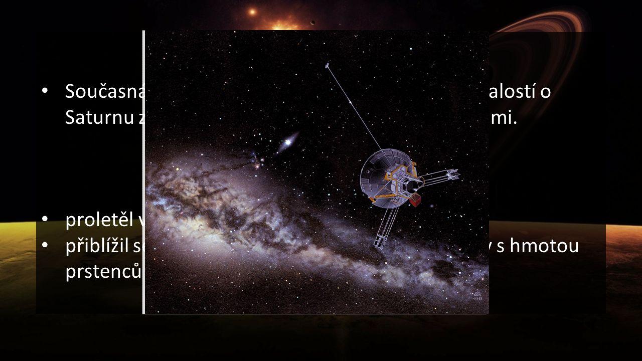 Průzkum Současná astronomie čerpá většinu detailních znalostí o Saturnu ze snímků pořízených kosmickými sondami. Pioneer 11 proletěl v blízkosti Satur