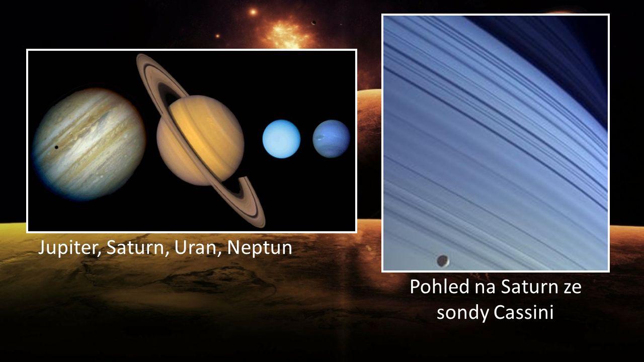 Jupiter, Saturn, Uran, Neptun Pohled na Saturn ze sondy Cassini