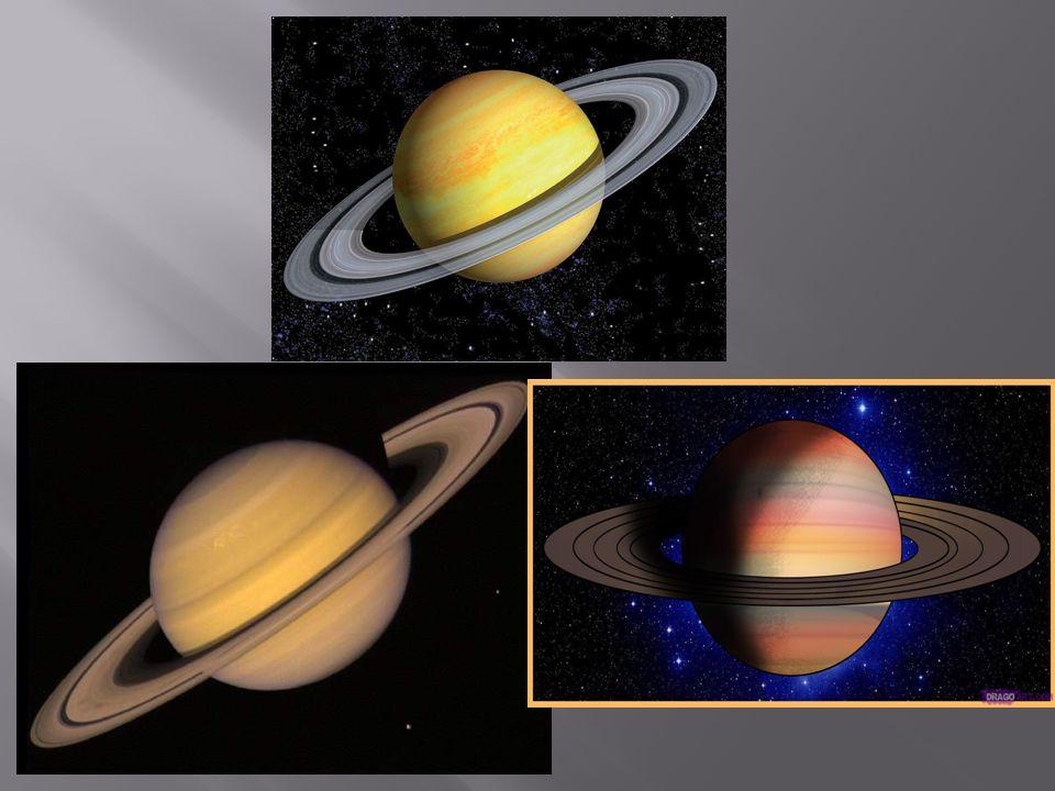 Prstence jsou natolik nápadné, že se planetě říká prstencová (ačkoli Jupiter, Uran a Neptun je mají také).