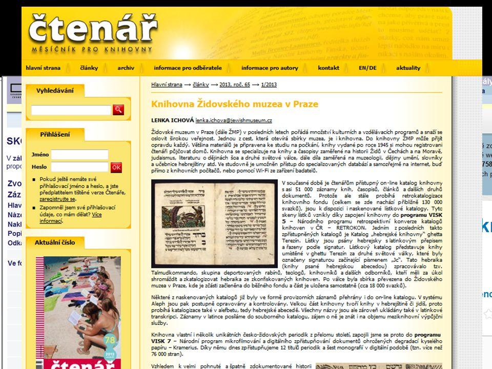  Acta Carpathica Occidentalis  Nebo časopis čtenář