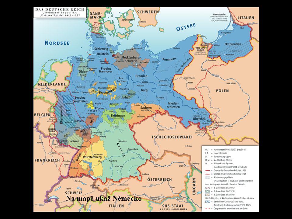 Na mapě ukaž Německo