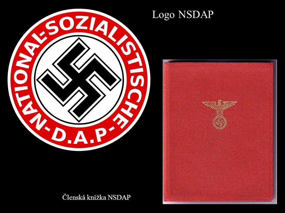 Členská knížka NSDAP Logo NSDAP