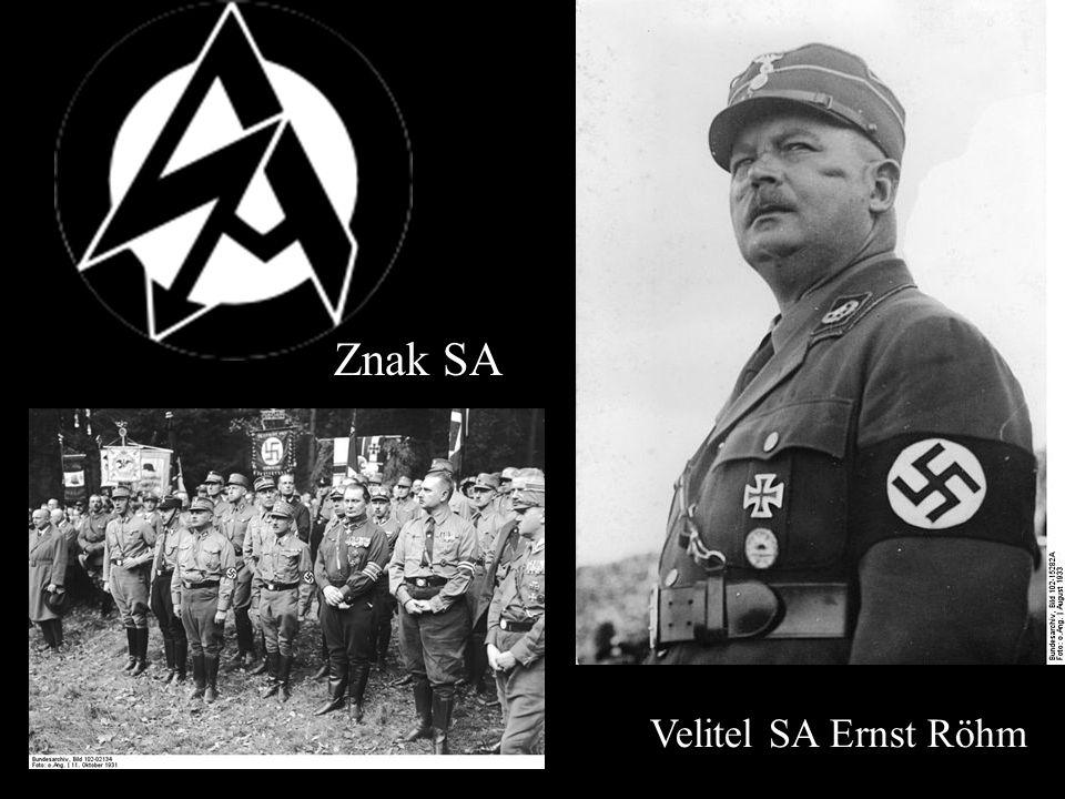 Velitel SA Ernst Röhm Znak SA