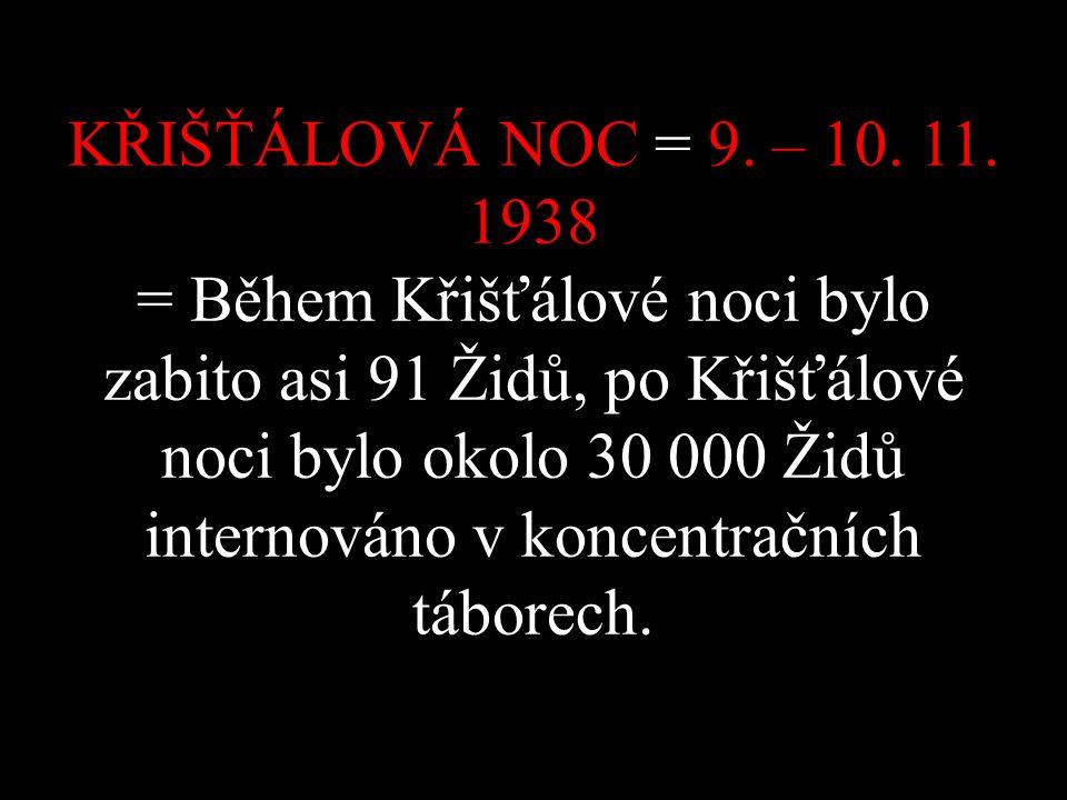 KŘIŠŤÁLOVÁ NOC = 9. – 10. 11.