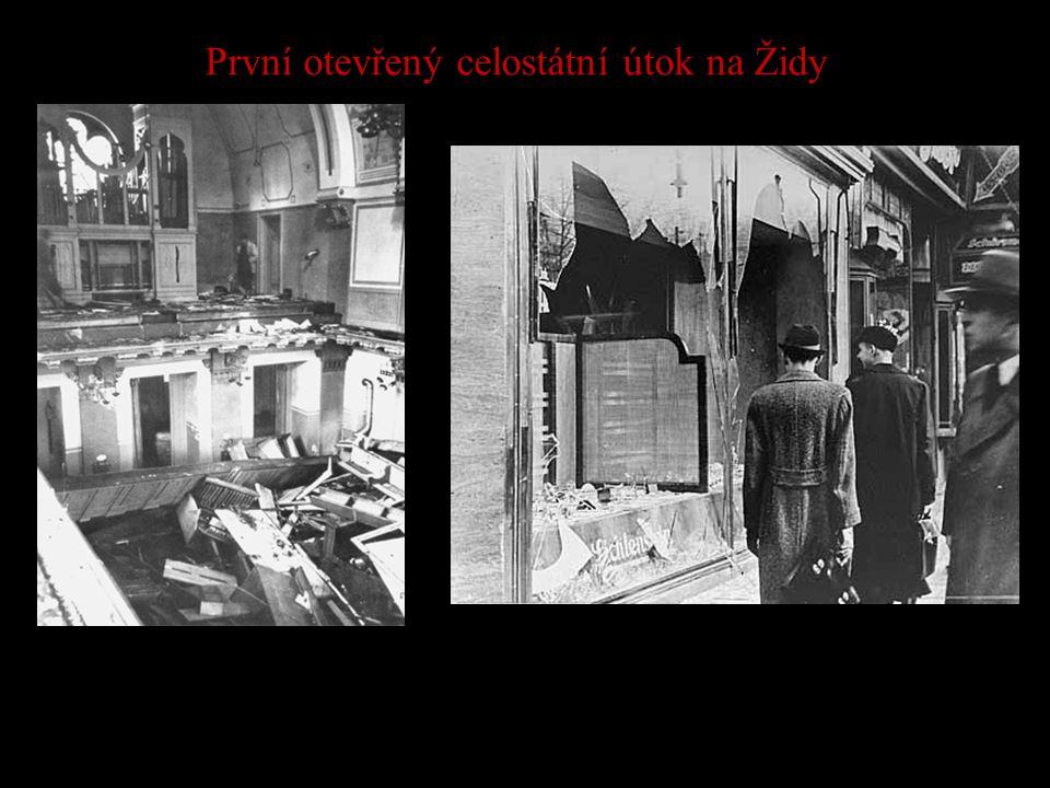 První otevřený celostátní útok na Židy