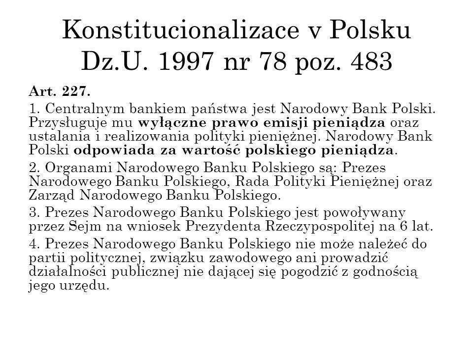 Konstitucionalizace v Polsku Dz.U. 1997 nr 78 poz.