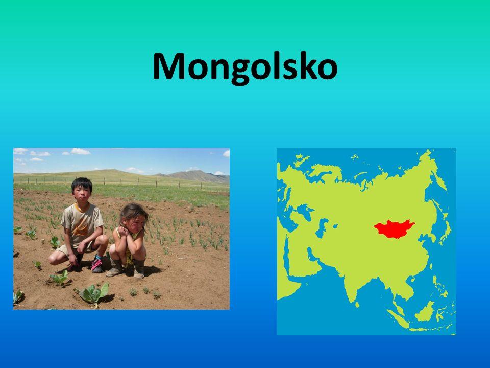 Mongolsko-obecné údaje Hlavní město je Ulánbátar 2,7 miliónů obyvatel Rozloha: 1 564 116 km² Hustota obyvatel: 1,8 obyv.