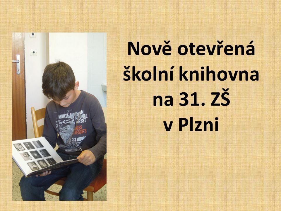 Nově otevřená školní knihovna na 31. ZŠ v Plzni