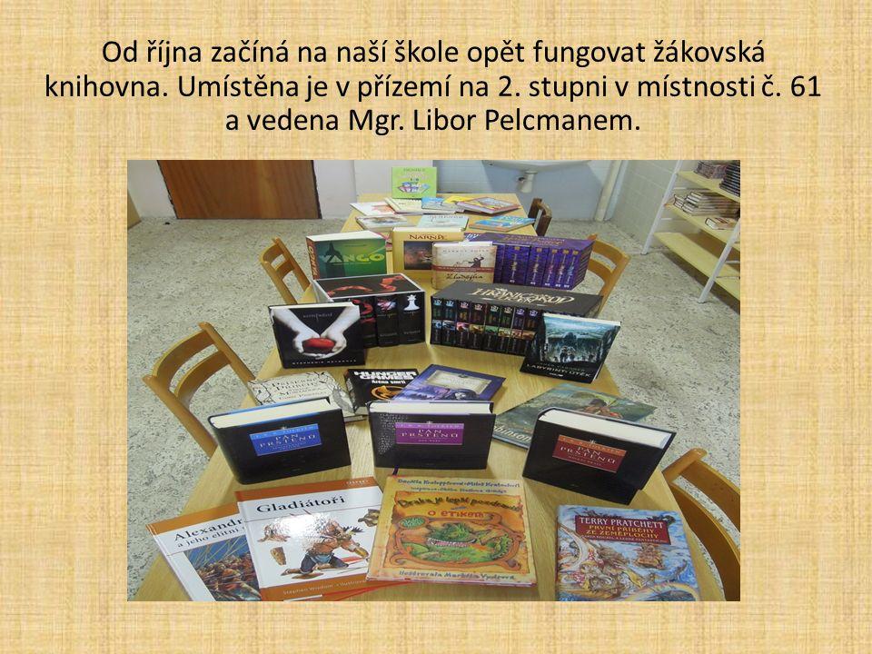 Od října začíná na naší škole opět fungovat žákovská knihovna.