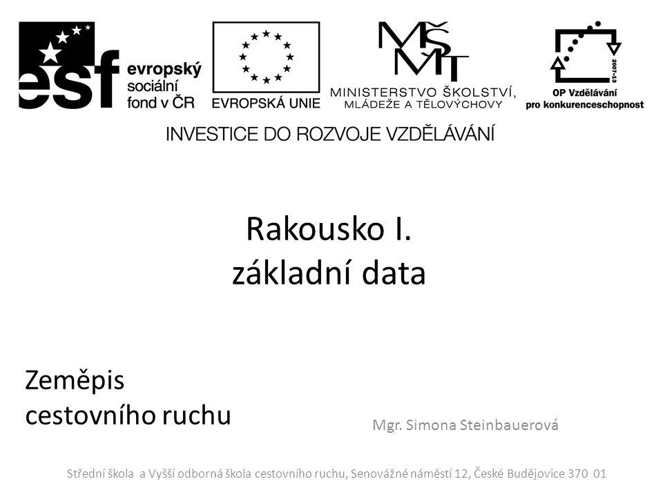 Rakousko I. základní data Mgr.