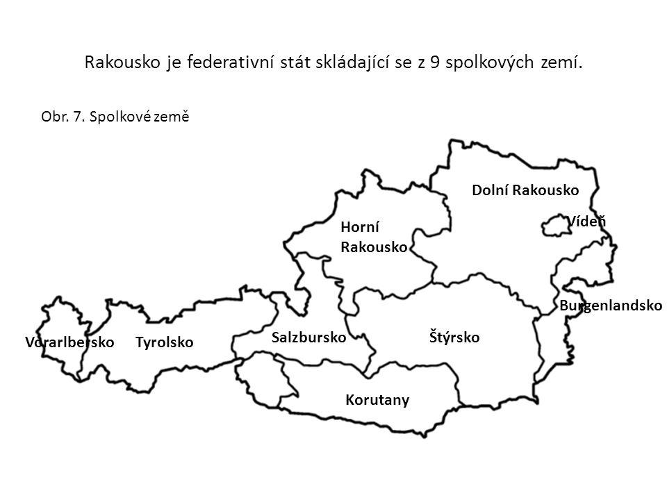 Rakousko je federativní stát skládající se z 9 spolkových zemí.