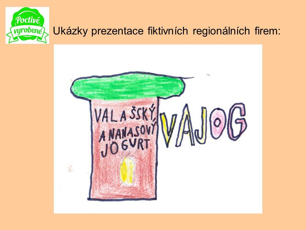 . Ukázky prezentace fiktivních regionálních firem: