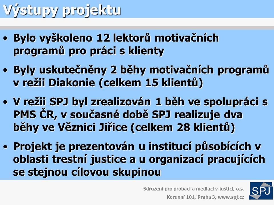Výstupy projektu Sdružení pro probaci a mediaci v justici, o.s.