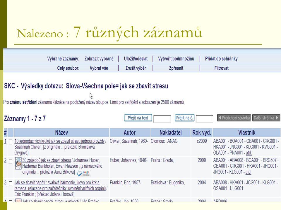 Co mohou knihovny nabídnout SK ČR  záznamy dokumentů, které nejsou ve fondech jiných knihoven (např.